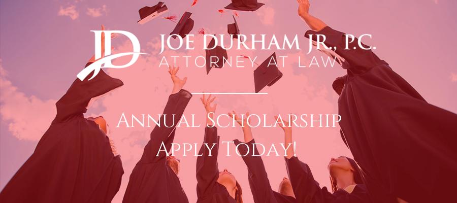 Graduating students, Joe Durham Jr. Annual Scholarship