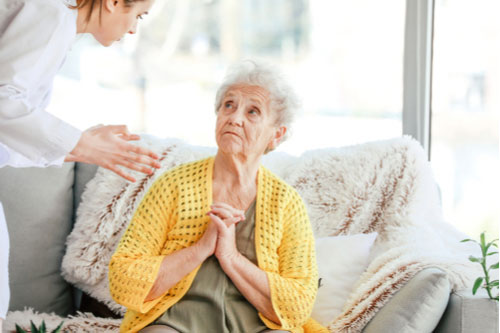 Doctor yelling at old woman in nursing home. Contact our Columbus nursing home abuse lawyers.